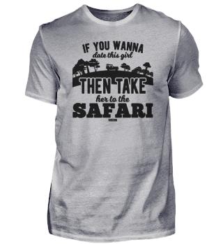 Safari Afrika lustiger Spruch Mädchen