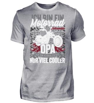 Motorrad Fahrender Opa
