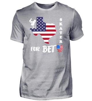 Beto O Rourke Skater Flag Election Shirt