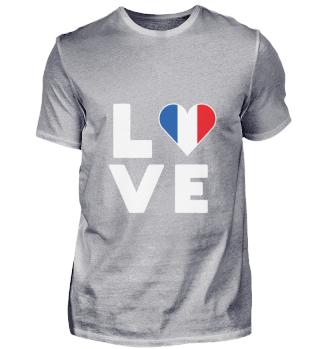 I love LOVE France Flag Flag Heart