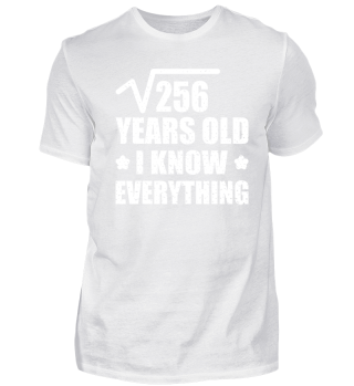 16 Years Old Birthday T-Shirt Gift