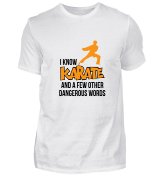 I know Karate and a few other dangerous