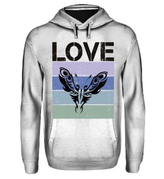Stripes - LOVE Tattoo Butterfly - black