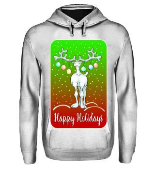 Funny Reindeer - Happy Holidays