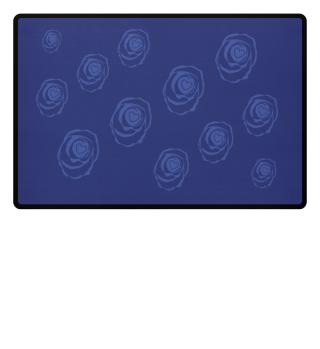 Fußmatte Rose in blau