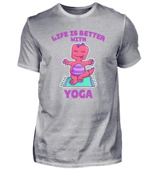 Yoga dinosaur T-Rex sports gift