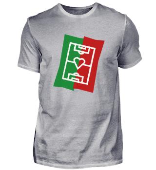 Fußballfeld mit Herz - Portugal