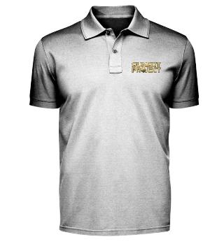Poloshirt mit goldenem Stick