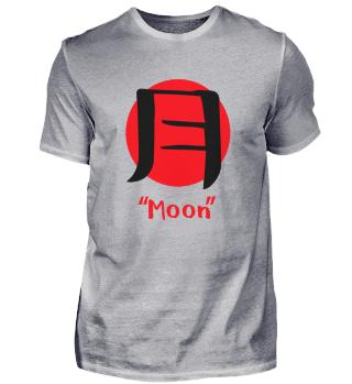 Japanisch für Mond Luna Kanji Aesthetic