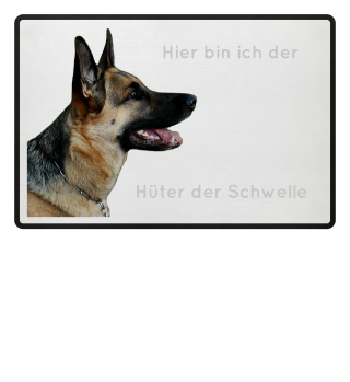 Schäferhund personalisierbar Hüter der Schwelle Wachhund Schutz