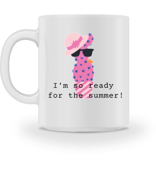 Mug Ready for Summer Cactus Pink