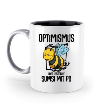 Bienen Tasse mit Spruch Optimismus