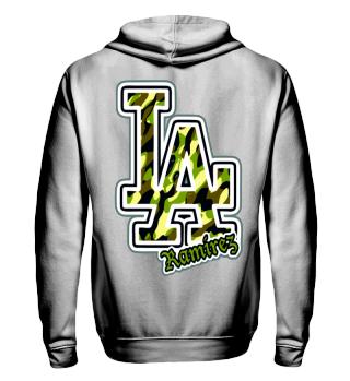 Herren Zip Hoodie Sweatshirt LA Ramirez