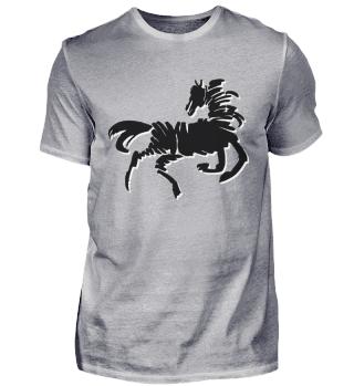 Pferd stilisiert black