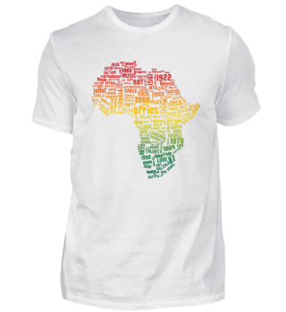 Africa Map Freedom T-shirt