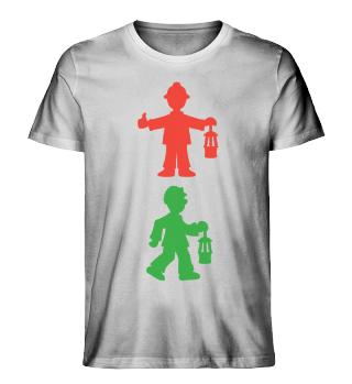 Herren Bio-Shirt – Bergmannsampel
