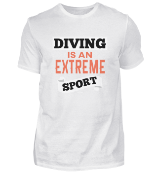 Extreme sports diving swimming water