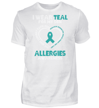 Allergies Awareness Gift - I Wear Teal F