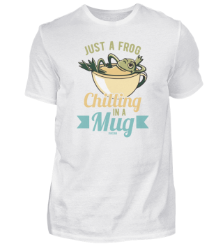 Frosch chillt in einer Tasse