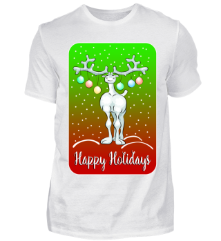 Funny Reindeer - Happy Holidays