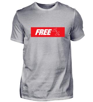FREE Shirt mit Logo