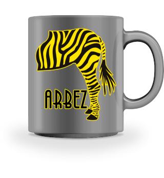 ARBEZ Zebra von Hinten - black gelb 1