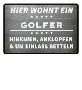 HIER WOHNT EIN GOLFER - Fussmatte