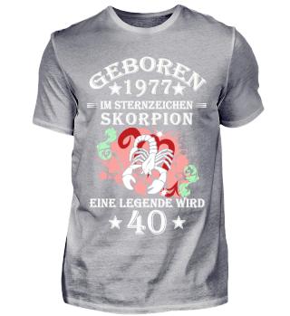 Sternzeichen Skorpion wird 40