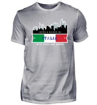 Geboren und aufgewachsen in Italien