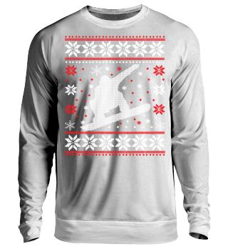 Snowboard Ugly Xmas Sweater Geschenk
