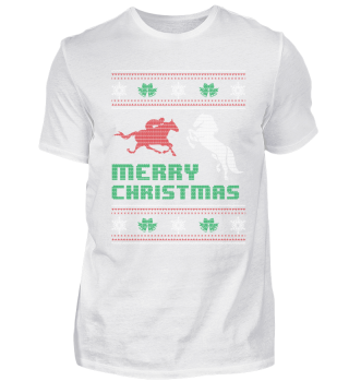 Funny Horse Riding Shirt Merry Christmas