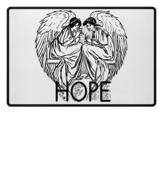 Hope T-Shirt with two Angel