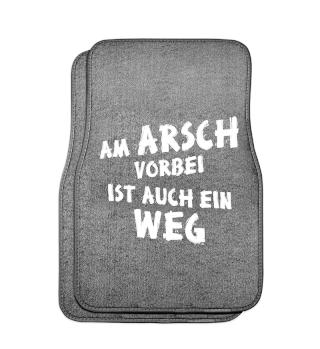 Am Arsch Vorbei Weg - weiss - auto 1
