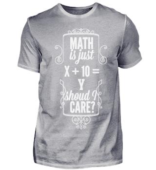 Mathe Shirt Spruch Mathematiker Student