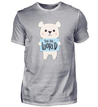 Eisbär Umweltschutz Naturschutz Klimawan