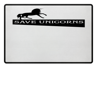 SAVE UNICORNS - black Einhorn