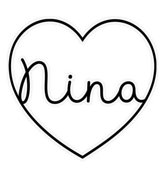 Nina Name Vorname Herz Valentinstag