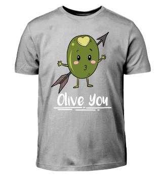 Valentins day Olive you T Shirt
