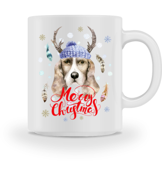 ☛ Merry Christmas · Boho Dog #5AT