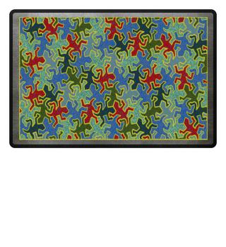 Gecko Reptiles Mosaic Pattern II