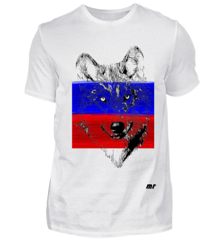 russland, russia, wolf, flagge