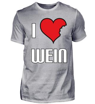 i love Wein Herz weiß