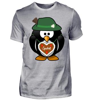 Mr Penguin gingerbread heart