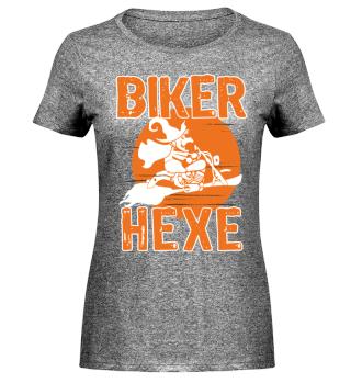 Biker Hexe - Motorrad Halloween
