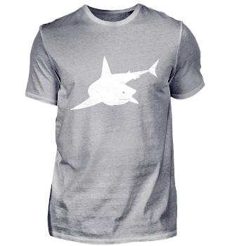 Hai T-Shirt, Weißer Hai T-Shirt