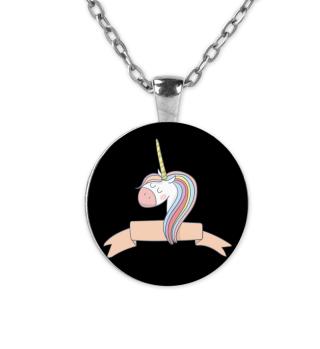 Einhorn Halskette