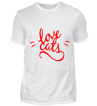 GIFT- LOVE CATS RED