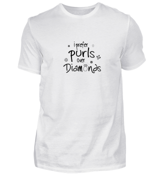 Funny Mom Knit Lover Shirt Purls Tee W