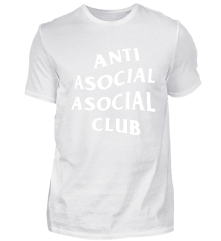 ANTI ASOCIAL ASOCIAL CLUB BLACK SHIRT
