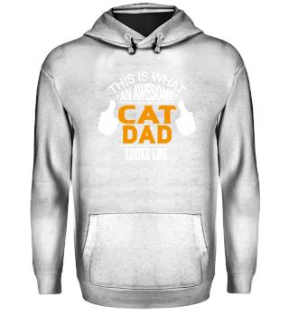 Cat Dad T-Shirt Funny Kitty Shirt Gift